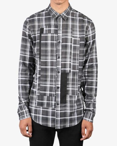 Patched Plaid Button Up (WOVEN)